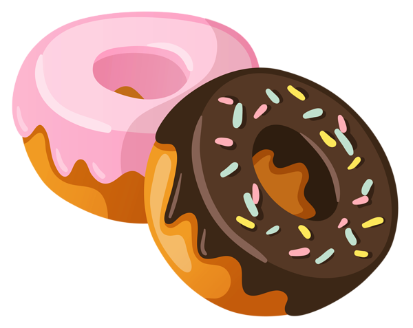 Food clipart png. Donuts picture planner happiness