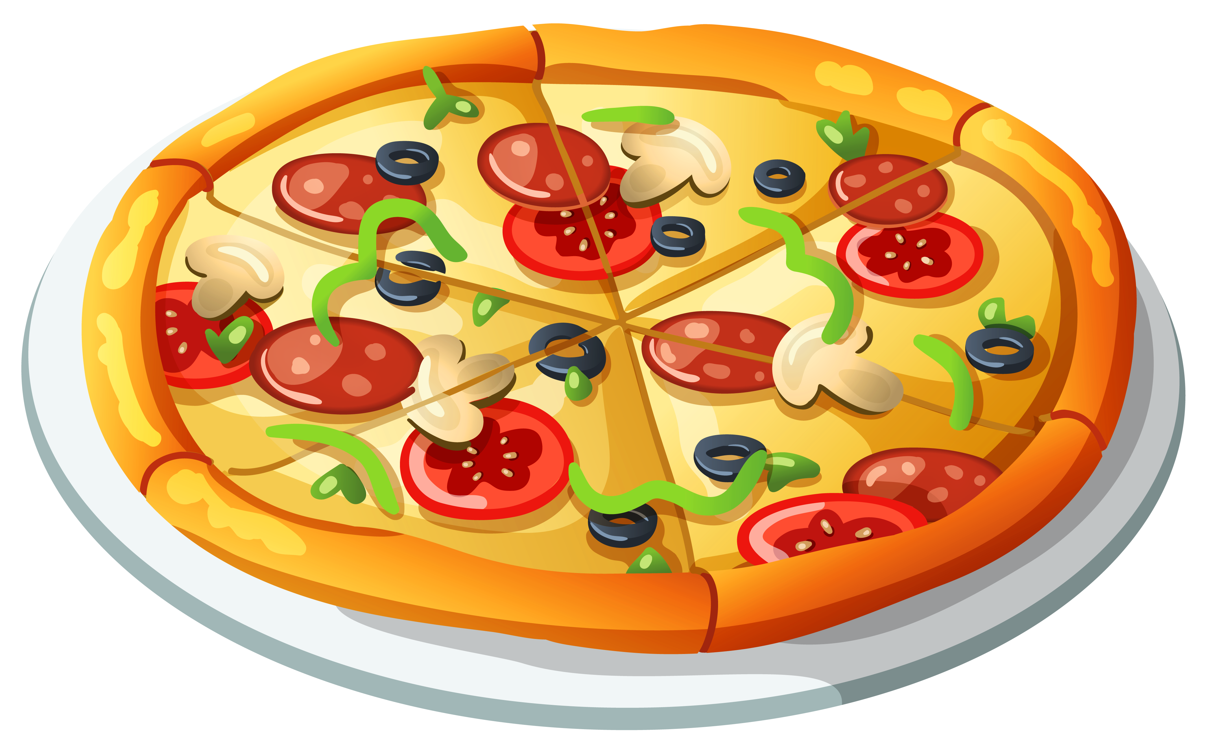 Food clipart png. Pizza vector gallery yopriceville