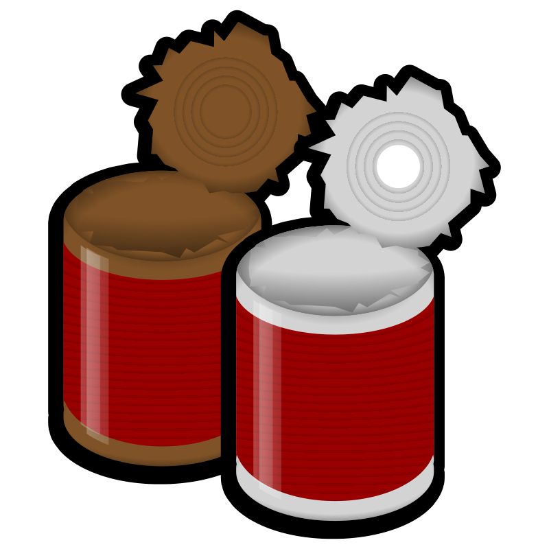 Canned clipart grocery product. Free garbage can download