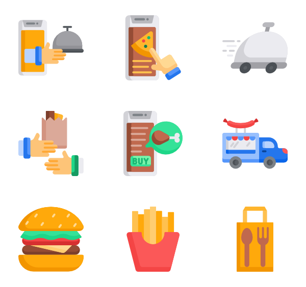Food delivery png. Free icons svg eps