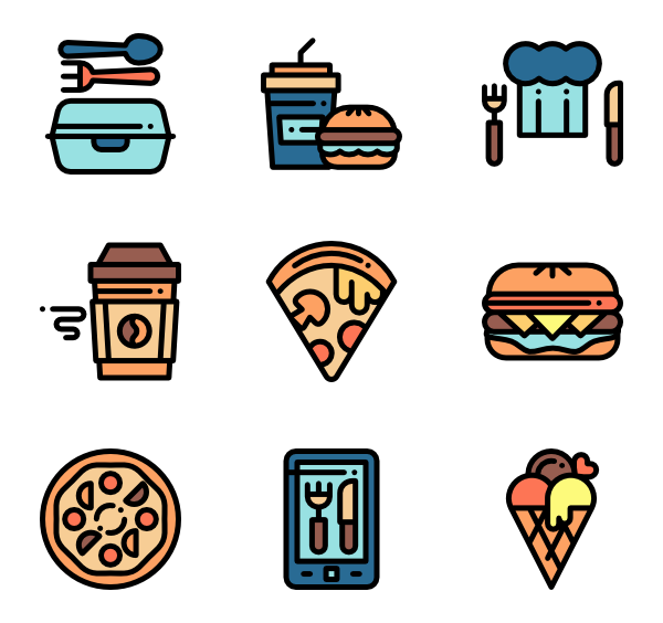 Food delivery png. Icon packs vector