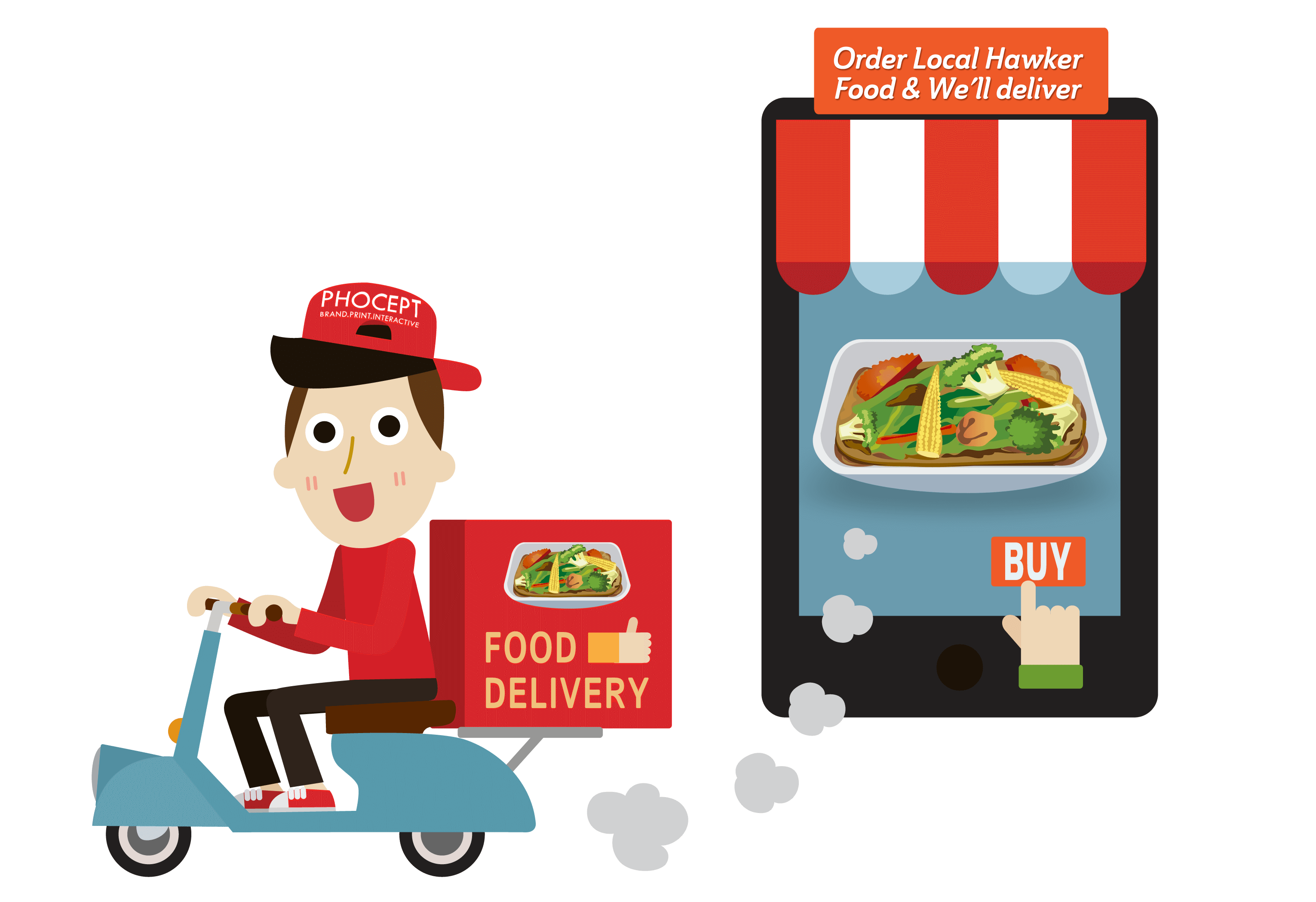 Food delivery png. Create a recurring revenue