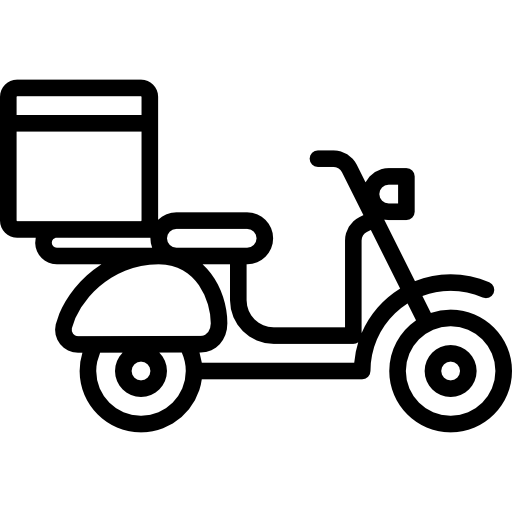 Food delivery png. Motorbike scooter motorcycle shipping