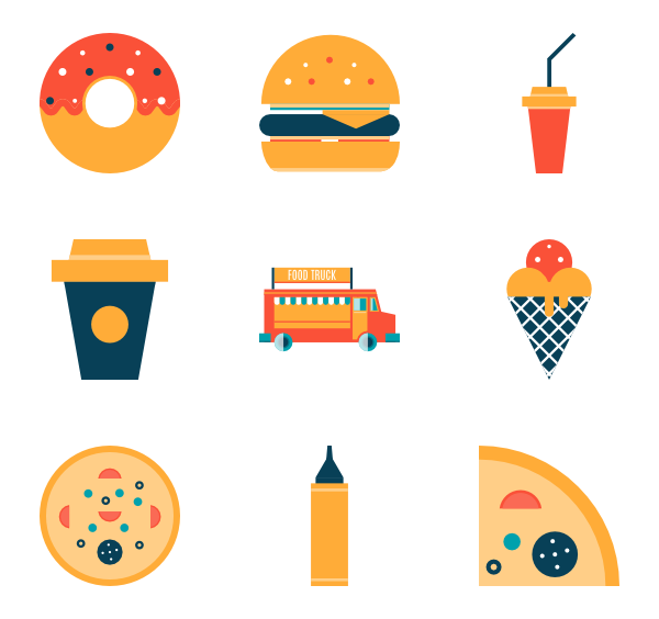 Food icons png. Fast icon packs