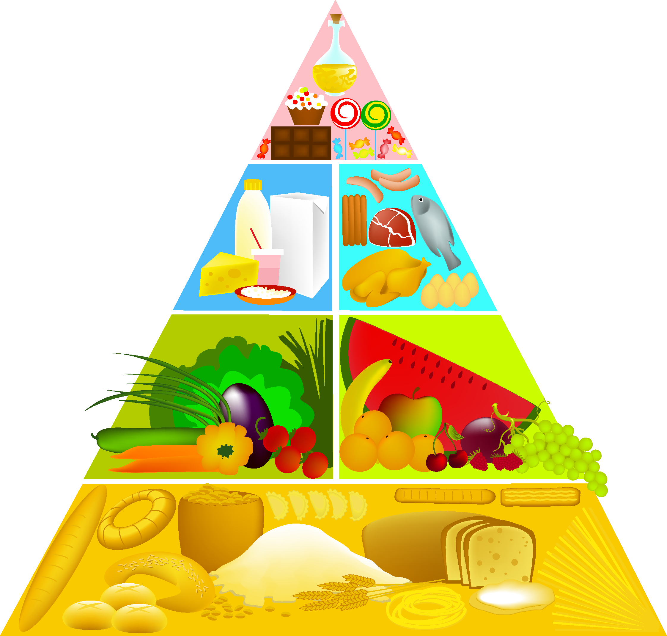 Food pyramid png. Stock illustration clip art