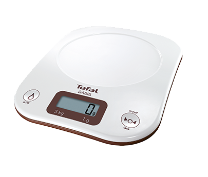 Transparent scales food. Tefal oasis bc h