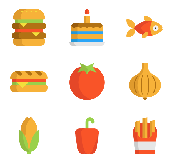 Vector lake top view. Diet icon packs