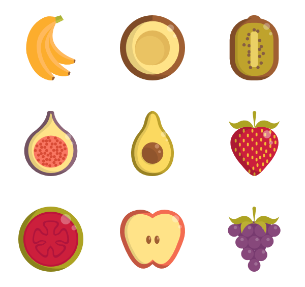 vector fruits minimalist
