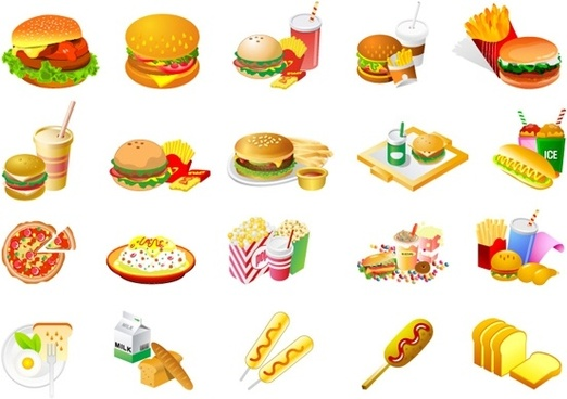Foods clipart. Free fast food clip