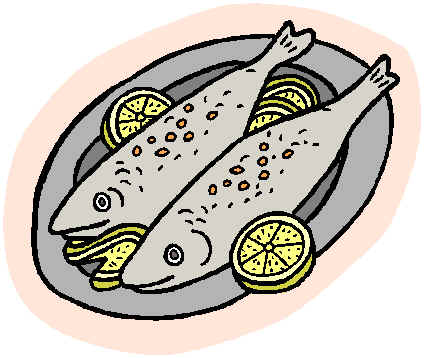 Foods clipart fish. Eating clipartxtras red x