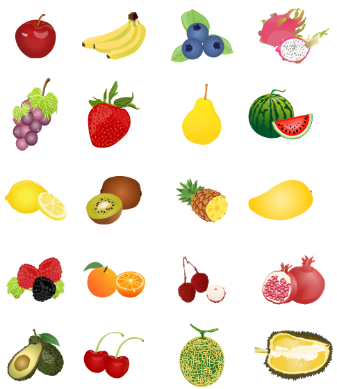 foods clipart printable