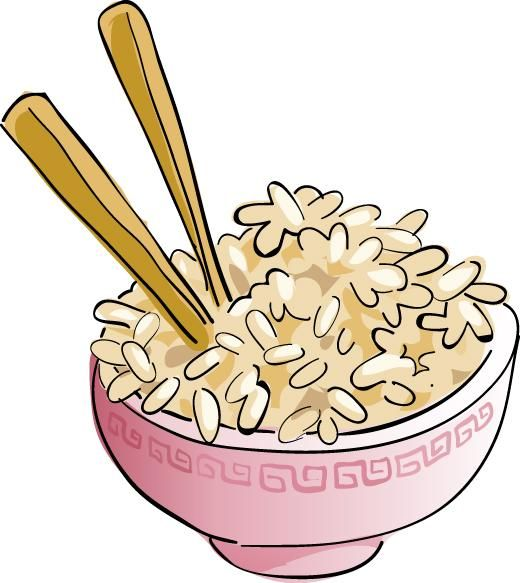 foods clipart rice