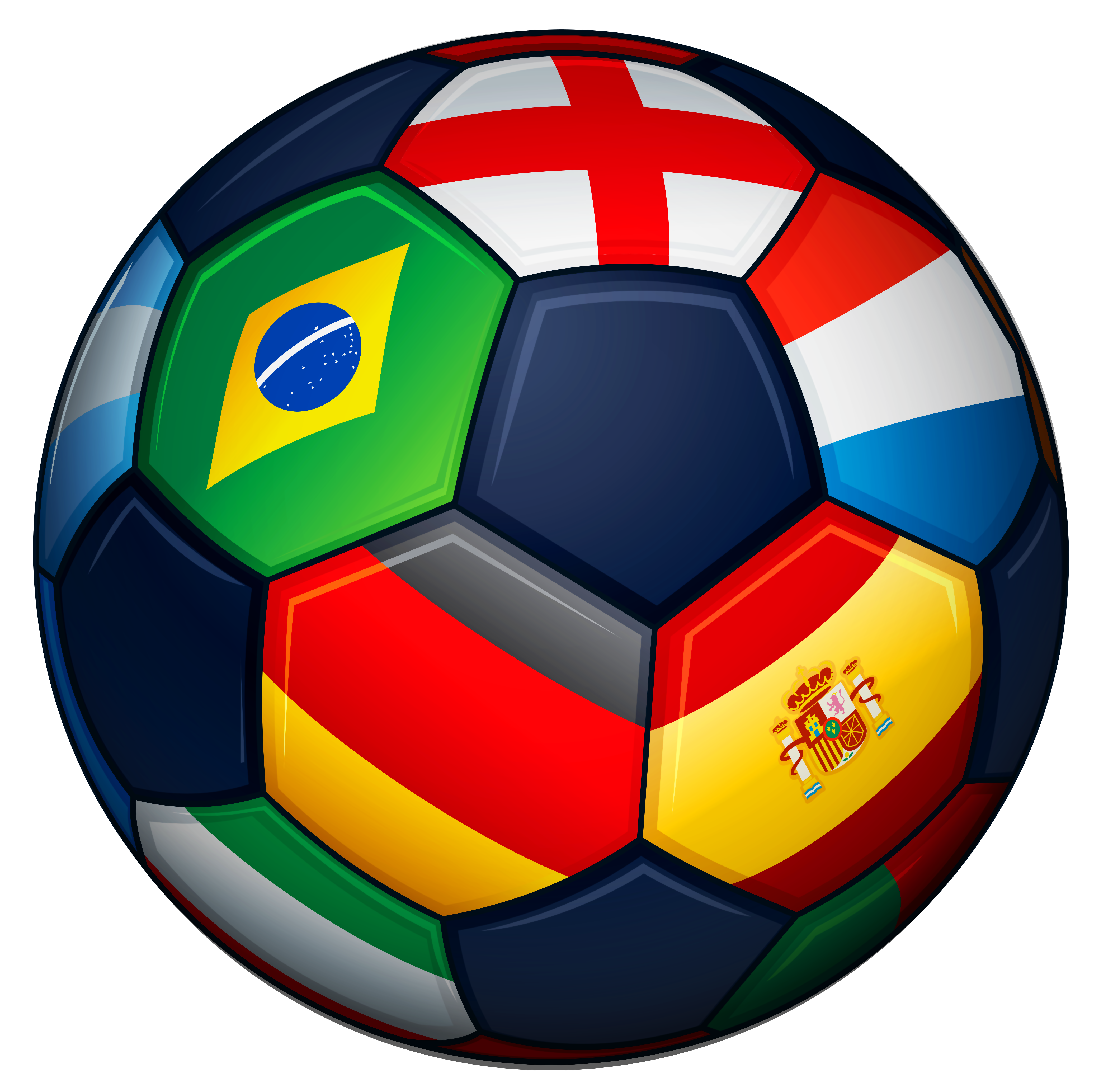 Foot ball png. Football with flags transparent