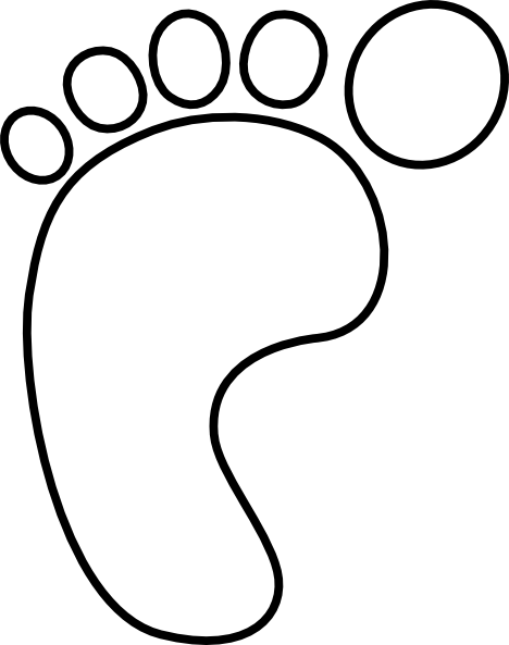 toe drawing black and white