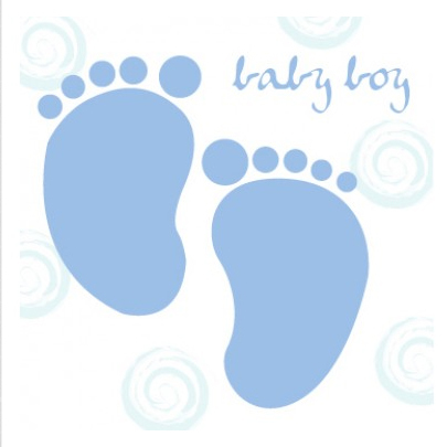 Foot clipart baby boy. Shower feet greetings card