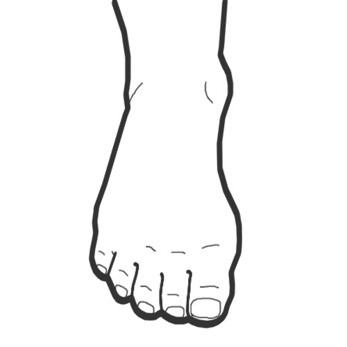 Foot clipart line drawing. Best photos of outline