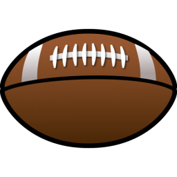 Football clipart. Brown