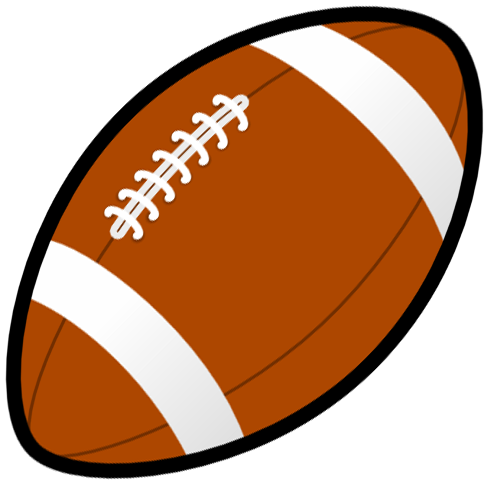 Football clipart sign. Black and white free