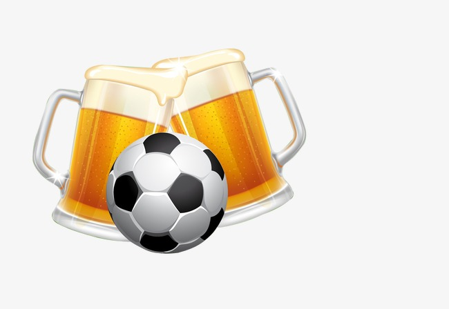 Football clipart beer. Vector png image and