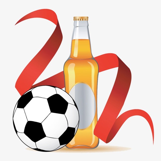 Football clipart beer. Colored ribbon png image