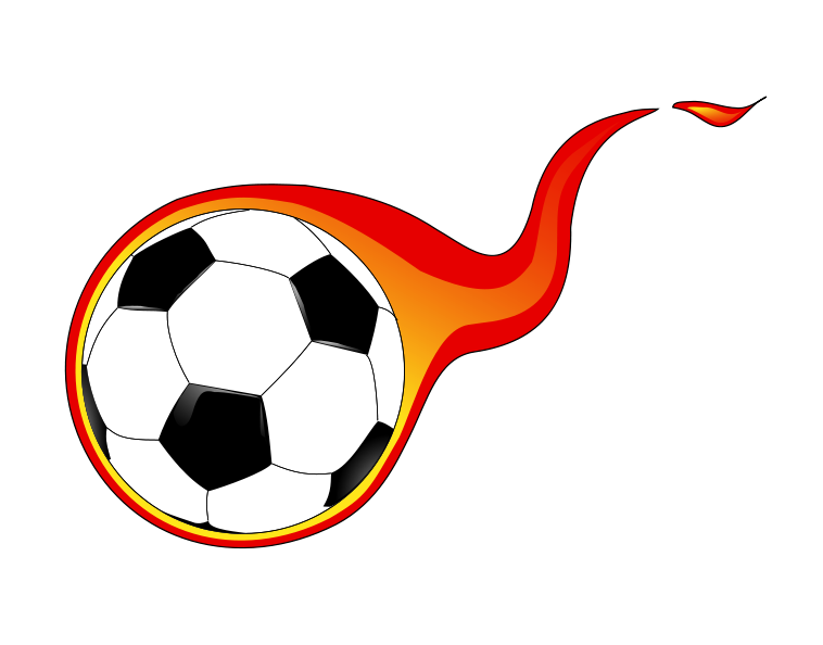 Football clipart fire. Free soccer cliparts download