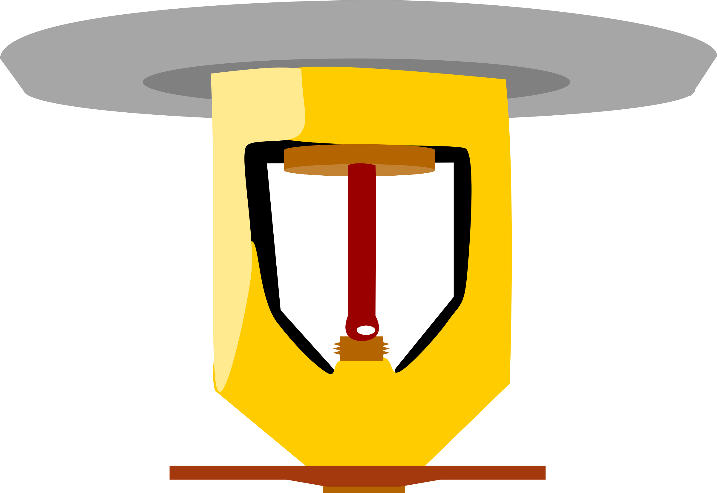 Football clipart fire. Suppression sprinkler with faceplate