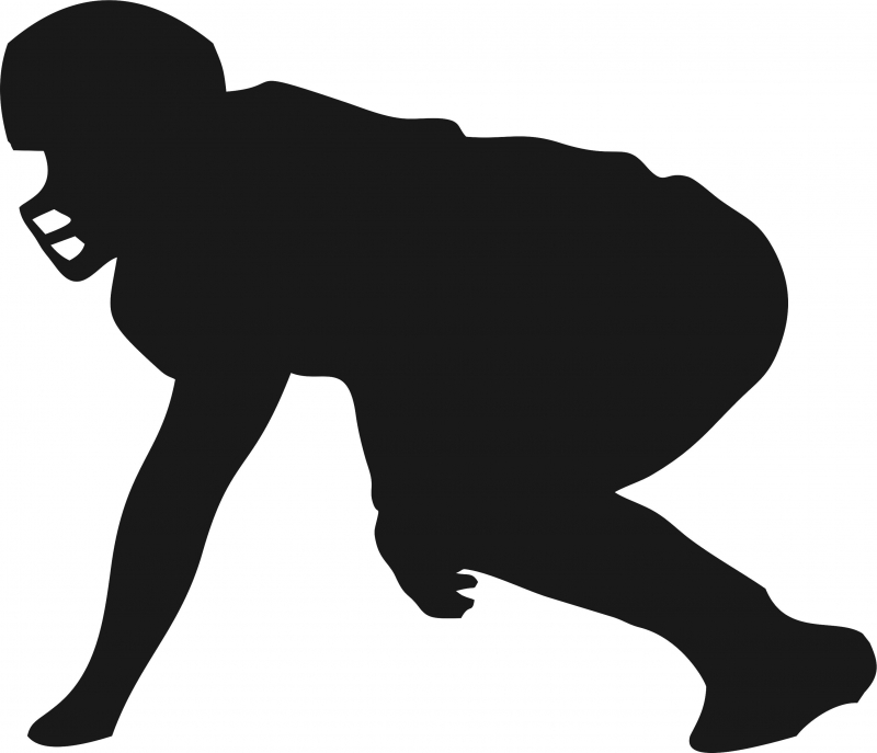 Football clipart linemen. Lineman silhouette laser cut