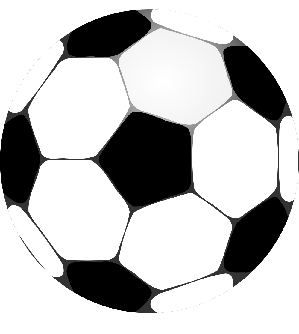 Football clipart png. Black and white panda