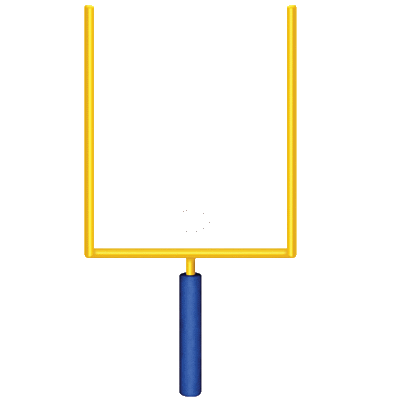 Football field goal post clipart png. Collection of american