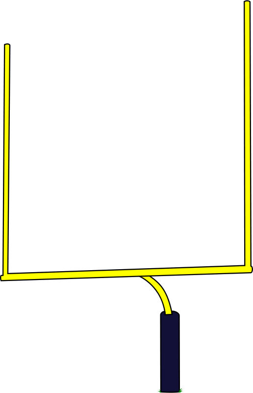 Field goal post png. Collection of american