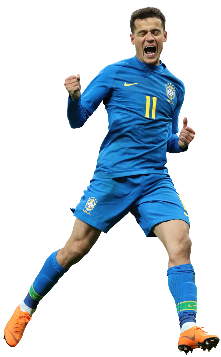 Football game png. Philippe coutinho render brazil