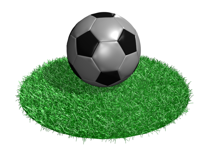 Football grass png. Soccer ball and particle