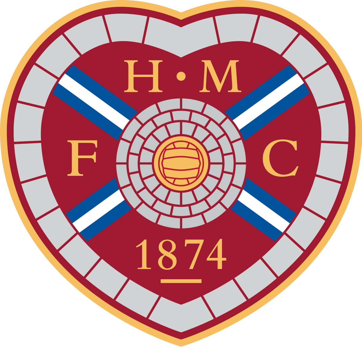 Football heart png. Image of midlothian fc
