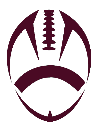 Football stitches png. Outline maroon cut free