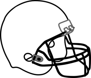 Footballer vector black and white. Football helmet clip art