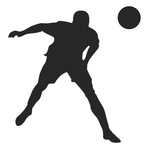 Footballer vector colorful. Hitting ball transparent png