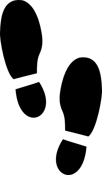 Steps vector muddy footprint