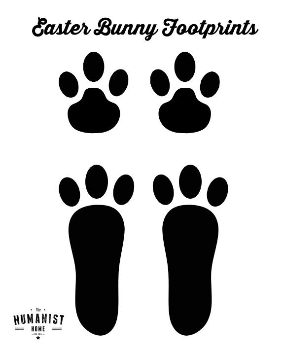 Footprint clipart bunny. Diy free downloadable easter