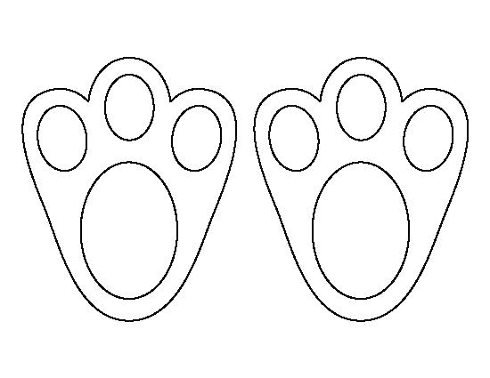 Footprint clipart bunny. Foot print outline related