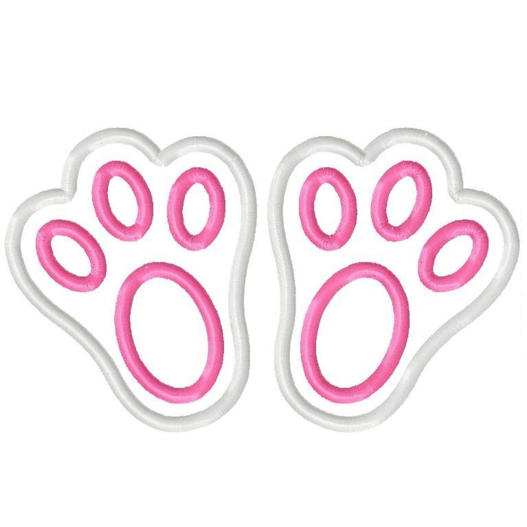 Footprint clipart easter bunny. Stickers merry christmas and