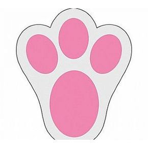 Footprint clipart easter bunny. Stencils free