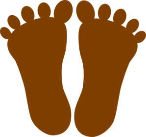 Legs clipart toe. Brown footprints