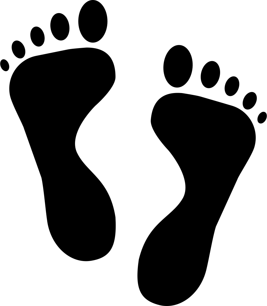 Footprint icon png. Human svg free download