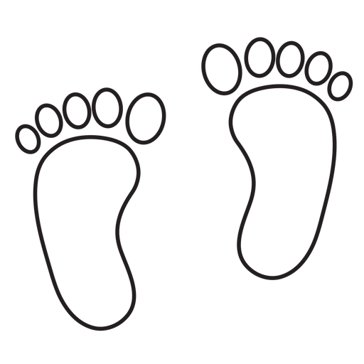 Footprint outline png. Two feet transparent svg