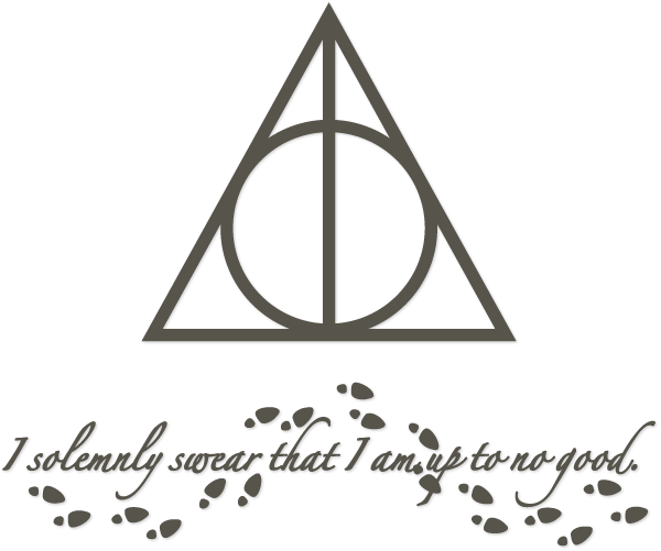 Footprint svg harry potter. Deathly hallows and sentiment