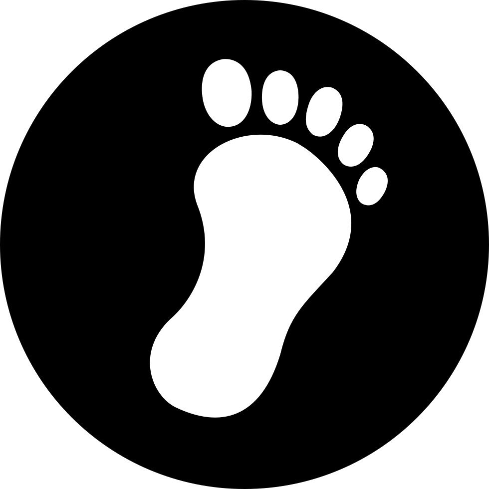 Footprint svg simple. Png icon free download