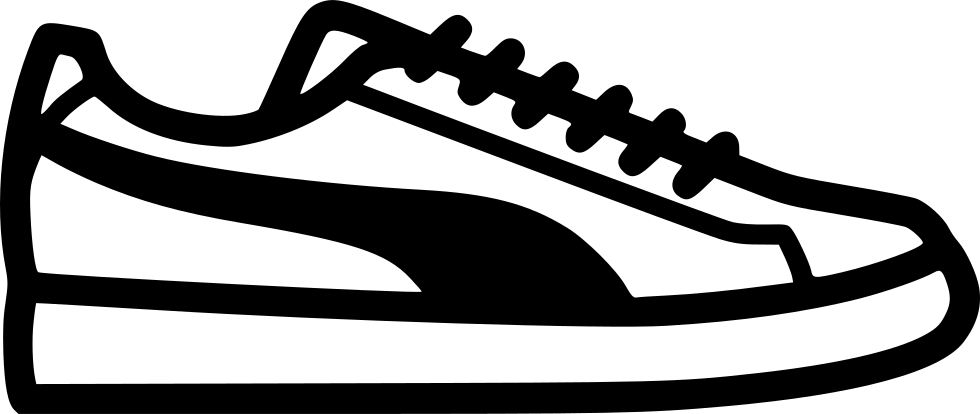 Footprint svg tennis shoe. Sneakers clipart library