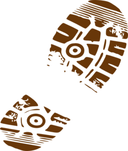 Footprint transparent muddy. Shoes encode clipart to