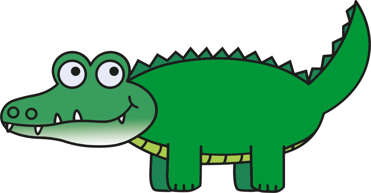Vector alligator crocodile. Paw prints clipart images