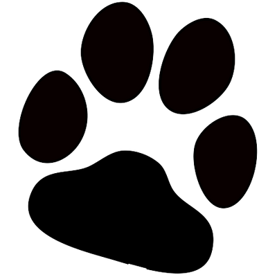 Footprints clipart clear background. Dog paw print transparent